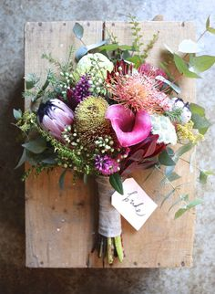 Swallows Nest Farm: Early Autumn Wedding in the Huon Valley flowers native Blush Wedding Flowers, Diy Wedding Bouquet, Wedding Table Flowers, Floral Wedding, Trendy Wedding, Wedding Arrangements, Floral Arrangements, Flower Table Decorations, Boutonniere