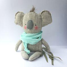 Koala toy plush baby toy Koala linen toy by CherryGardenDolls
