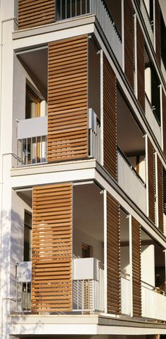 Ideas For Apartment Design Facade Modern Facade Design, Exterior Design, House Design, Facade Architecture, Residential Architecture, Building Facade, Apartment Design, Facades, Modern Shutters
