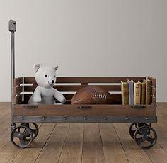 A Rolling Bookshelf  - HouseBeautiful.com
