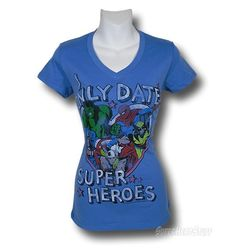 Images of Marvel Only Date Superheroes Womens T-Shirt. I seriously am considering buying this.