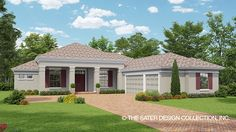 Home Plan HOMEPW77900 - 2564 Square Foot, 3 Bedroom 2 Bathroom + Mediterranean Modern Homes Home with 3 Garage Bays | Homeplans.com