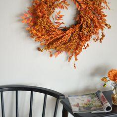 Fall Berry Wreath by Club Botanic #kclff23 #KCLFridayFinds #hellofall #falldecor #etsy