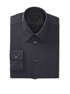 80% OFF Calvin Klein Collection Men's Slim Fit Thin Striped Dress Shirt