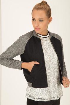 CHAQUETA BOMBER Blazers, Spin, Sweaters, Outfits, Style, Fashion, Jackets, Sleeves, Slip On