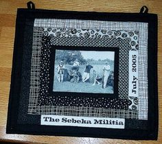 Family Reunion Photo Quilt simple way to feature a few photos.