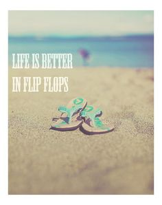 Life is better in flip flops (and with a glass of #ThornyRose #wine) #obviously.