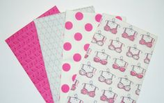 Pink Fat Quarter Bundle Breast Cancer Awareness by fabricalacarte
