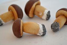 hríby Cupcake, Stuffed Mushrooms, Cookies, Vegetables, Desserts, Food, Biscuits, Meal, Deserts