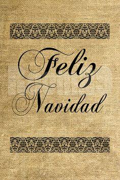 INSTANT DOWNLOAD Feliz Navidad on Damask Download and by room29, $1.00