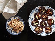 Mendiants, Mandeln, Schokolade
