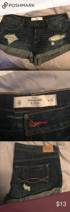 Abercrombie and Fitch shorts Distressed Abercrombie shorts, great condition, smoke free and pet free home. Abercrombie & Fitch Shorts Jean Shorts