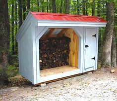 Designed To Hold Four Cords Of Wood This Wood Shed Is Our