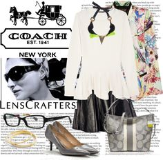 """Share Your Style with LensCrafters and Coach"" by hopelovesfashion ❤ liked on Polyvore"