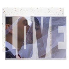 Love and Thanks with DIY Photo Card - wedding thank you gifts cards stamps postcards marriage thankyou