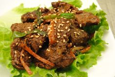 Korean food - Bulgogi - this looks like just a big ole blob of brown,  but this dish is really good!  MT