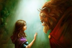 Fan Art - Beauty and the Beast... beautifully done.