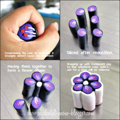 Pretty flower tut....The Accidental Mom Blogger: flower clay cane tutorial!