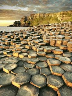 The Giant Causeway in County Antrim, northeast of Northern Ireland.