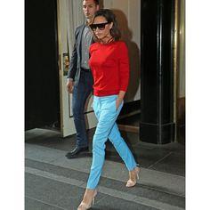 Victoria Beckham Color Blocks Like A Pro - Fashion Style Mag