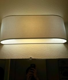 Ugly Bathroom Light Fixtures bye-bye hollywood strip light! diy replacement instructions