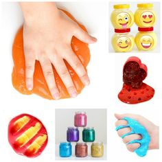 Glowing rainbow slime recipe for play. This stuff is so fun we couldn't put it down! (easy slime play recipes for kids! Slime No Glue, Diy Slime, Fine Motor Activities For Kids, Daily Activities, Sensory Activities, Infant Activities, Summer Activities, Bird Feeder Craft, Bird Feeders