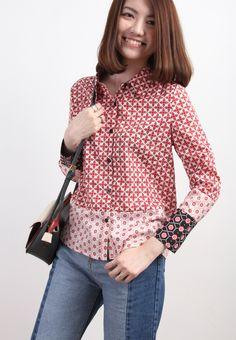 Retro Style Geometric Shirt-TOP-Drive Store
