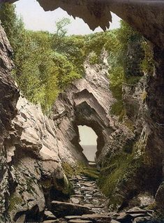 Watermouth caves, Ilfracombe, England, between ca. 1890 and ca. Detroit Publishing Co. Places To Travel, Places To See, Devon Holidays, Devon And Cornwall, Devon Uk, North Devon, English Countryside, British Isles, Natural Wonders