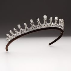 Pear shape and crescent tiara. | Andrew Prince Jewellery