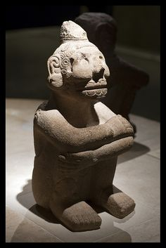 An Inca statue in the British Museum.
