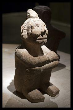 An Inca statue in the British Museum.
