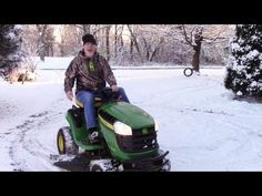 Mowing Snow with a John Deere D105