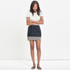 Embroidered Gamine Skirt : dresses & skirts | Madewell