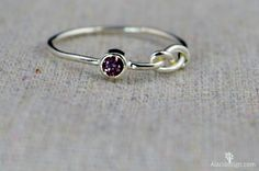 Sterling Silver Amethyst Infinity Ring