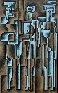 José Pedro Costigliolo (Uruguayan, 1902-1985)  Abstraction (Figures), 1948