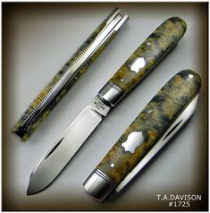 Knives for sale Pocket Knives, Custom Knives, Folding Knives, Cutlery, Blade, Crafts For Kids, Patterns, Storage, Projects