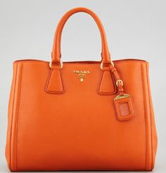 Some Prada Bags Have That Ugly Orange but This Shade is Awesome! It's In Papaya Orange.