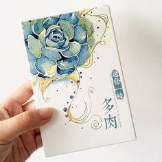 30 pcs/pack Hand Drawing Watercolor Succulent Plants Greeting Card Postcard Birthday Letter Envelope Gift Card Set Message Card