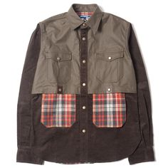 JUNYA WATANABE MAN Panelled 4-Pocket Snap Button Shirt