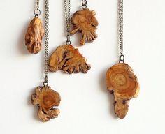 Wood burl jewelry