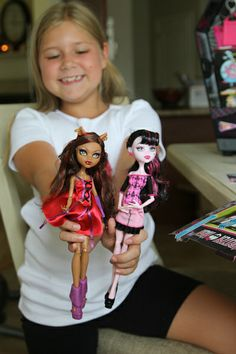 monsters high dolls for Shannen and Trinity.*