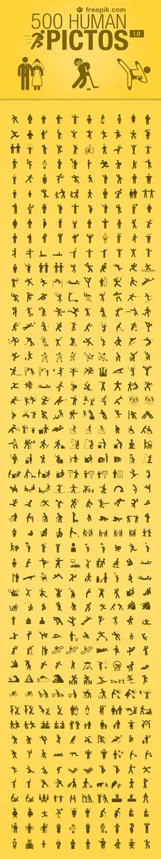 Human Pictos with 500 Icons of human icons Icon Design, Web Design, Logo Design, Photoshop, Schrift Design, Web Mobile, Planer Layout, Human Icon, Logos