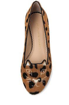 b6be0131b691 Charlotte Olympia Hyena Print Kitty Flat Leopard Fashion