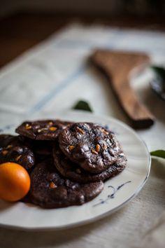Flourless Chocolate Citrus Cookies