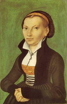 Katharina von Bora, future wife of Martin Luther - Lucas Cranach the Elder. 1526