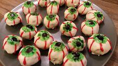 Halloween: Cake Pop Augen Cake Pops, Sushi, Halloween, Ethnic Recipes, Desserts, Food, Eyes, Pies, Recipies