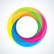 Abstract Circular Logo Design Element Circle Rainbow, Circular Logo, Cool Lettering, Logo Design, Graphic Design, Christian Church, Flat Illustration, Everyday Objects, Logo Ideas
