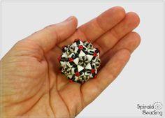 Spirala beading: Kheops Stars Beaded Bead