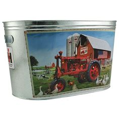 farmall tractor drink tub...I need to find this to match my other stuff I have