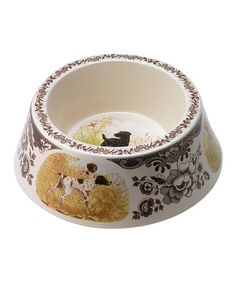 Absolutely frivolous but I so want these for my dogs!!!Love this Woodland Hunting Dogs Dog Bowl on #zulily! #zulilyfinds